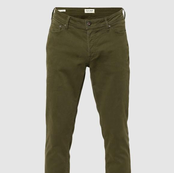 90004696 Jack and Jones Jeans | Nwt Jack Jones Glenn Slim Fit Green Chinos ...